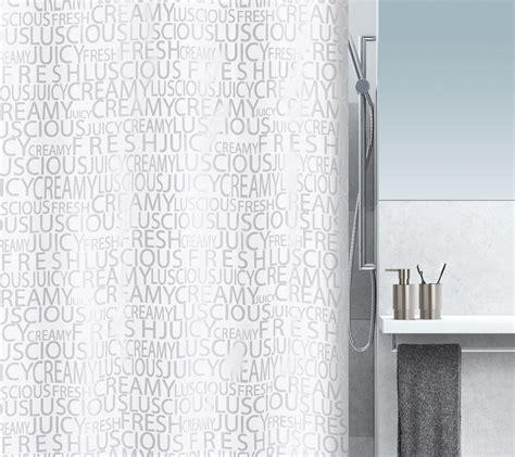 spirella shower curtain spirella creamy textile shower curtain clevershower