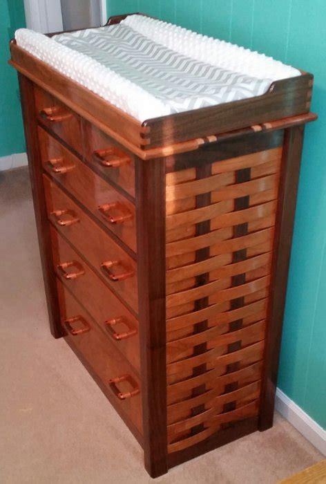 Cherry Dresser Changing Table Walnut And Cherry Dresser With Changing Table And Mirror By Spazinout Lumberjocks