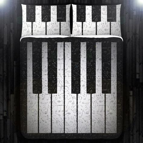 music bed sheets music note key piano duvet cover bedding queen size king twin