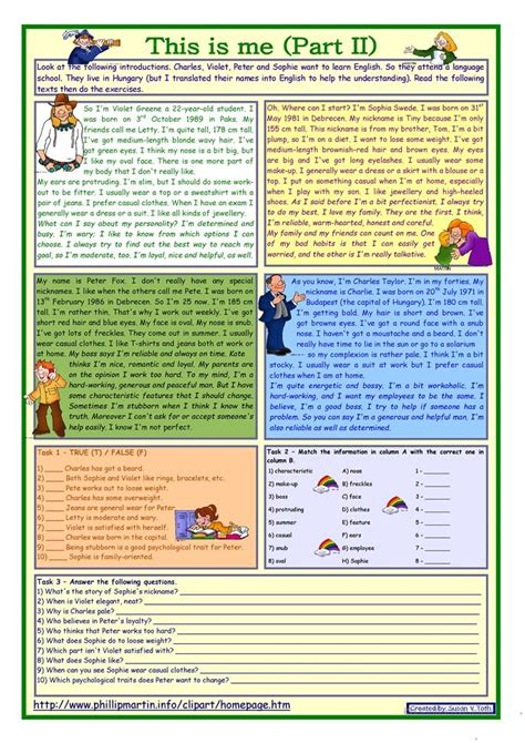 Esl Reading And Writing Worksheets by Who Is Who Describing Worksheet Free Esl