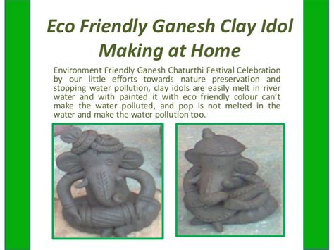 eco friendly ganesh clay idol work shop in