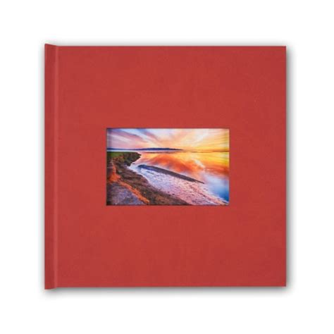 8x8 picture window red suede cover photo book paperstyle