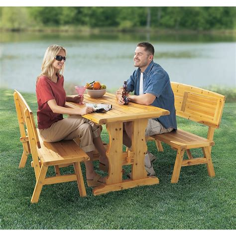 country style backyard country style backyard dining set 131149 patio furniture at sportsman s guide
