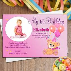 10 personalised teddy birthday photo invitations n34