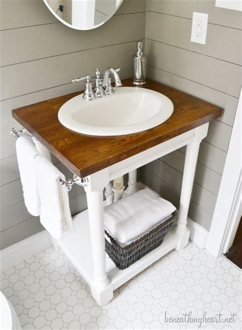 diy bathroom sink cabinet creative diy bathroom vanity projects the budget decorator