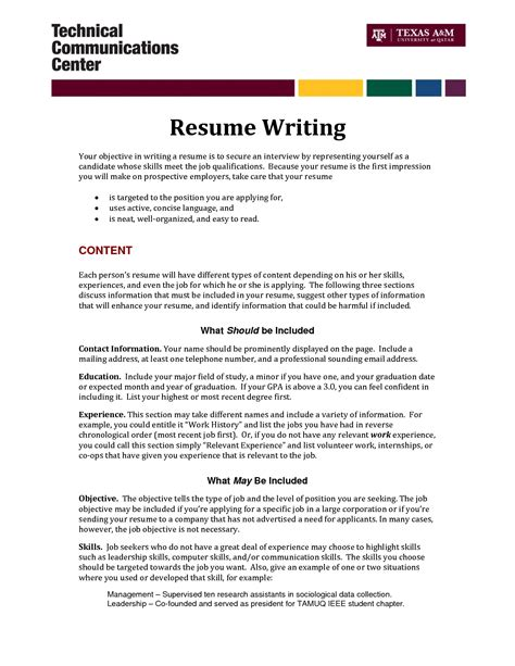 samples of functional resumes with objectives examples cv career job
