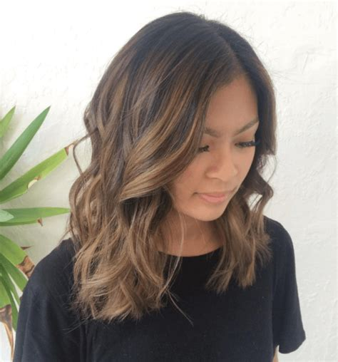 ombre hair on asian asian short hair balayage fashions brown highlights