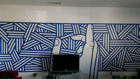 easy wall mural 3 rolls of blue 6 hours and boredom and now i a new wall mural wall murals and