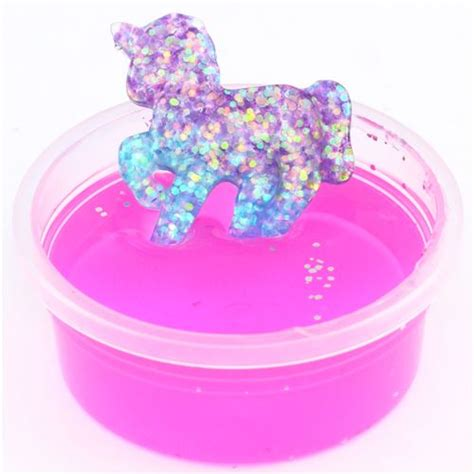 Cheap Cutlery Sets by Pink Purple Glitter Unicorn Slime With Case Kawaii Mud