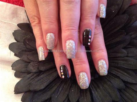 aweet awesome acrylic crystal nail design fashion