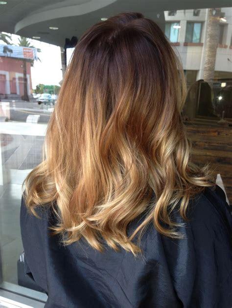 balayage ombre  shoulder length hair ombre  briza