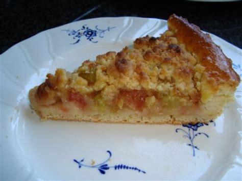rabarber bloem rabarbertaart met crumble recept gebak gette