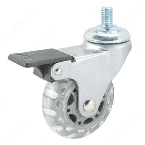 Chair Casters Threaded Stem by Clear White Gray Stem Furniture Caster
