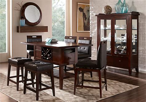 5 dining room sets julian place chocolate 5 pc counter height dining room dining room sets wood