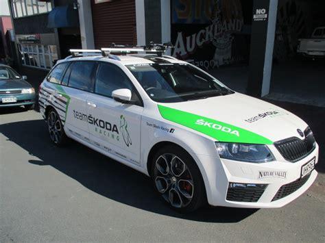 skoda racing team skoda racing vehicle signage 187 onfire design