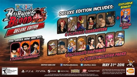themes ps4 one piece one piece burning blood digital pre order bonus announced