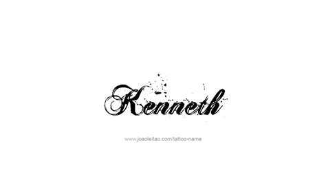 tattoo lettering kenneth kenneth name tattoo designs