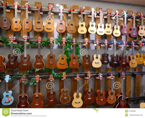colorful ukulele colorful ukulele and guitar stock photo image 51330205