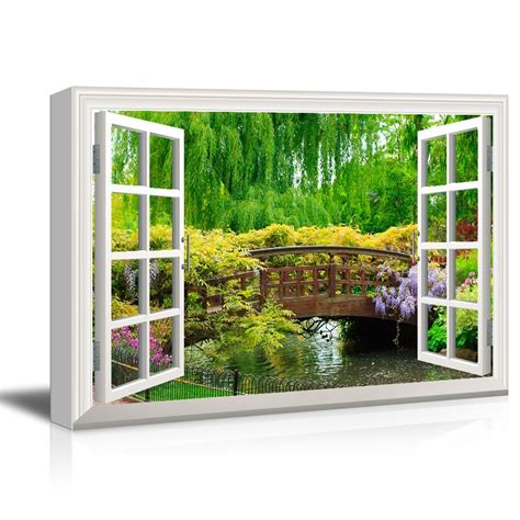 wall  visual effect view  window frame canvas