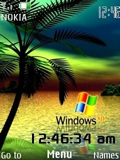 clock themes xp download xp bliss clock theme nokia theme mobile toones