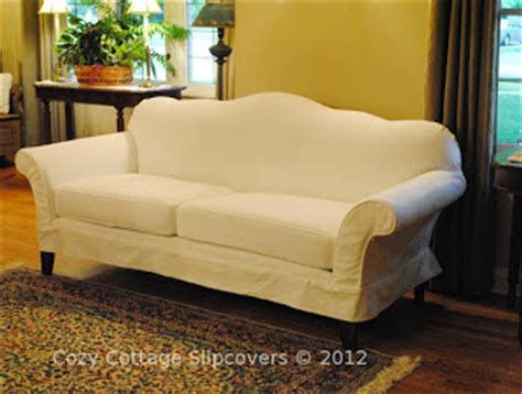 camelback sofa cover cozy cottage slipcovers camel back sofa