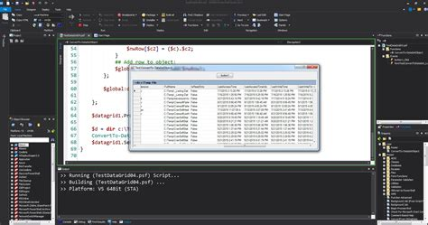 format date shell powershell studio working with datagrid component max