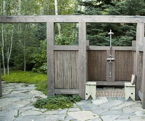 hardscaping  outdoor showers gardenista