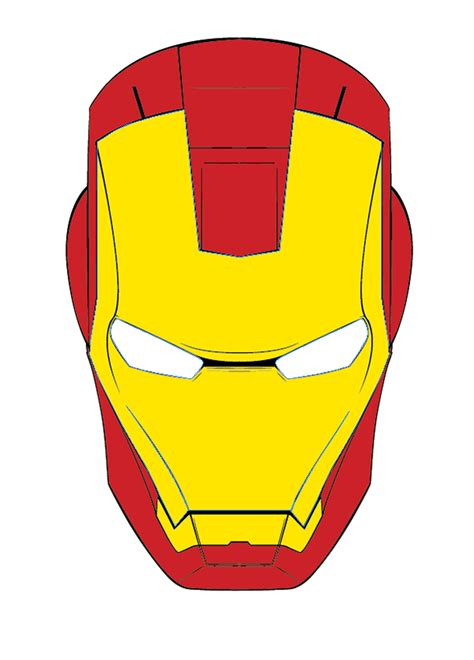 ironman mask template iron melty mask on behance