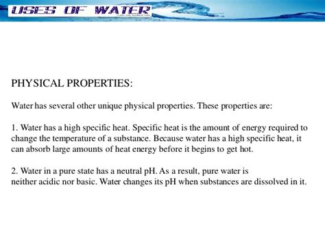 molecules and the properties of water fundamental biological