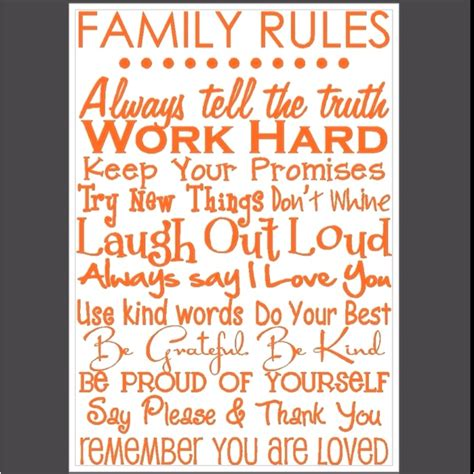 printable house rules poem family rules cute quotes pinterest