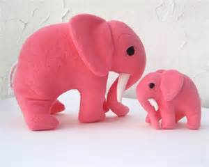 Toy stuffed animals elephants set of 2 mommy and by sewnnatural