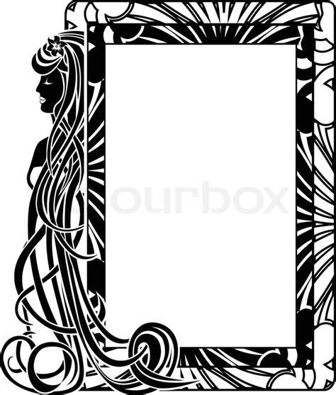 jugendstil rahmen dekorative rahmen in jugendstil stil mit langen haare