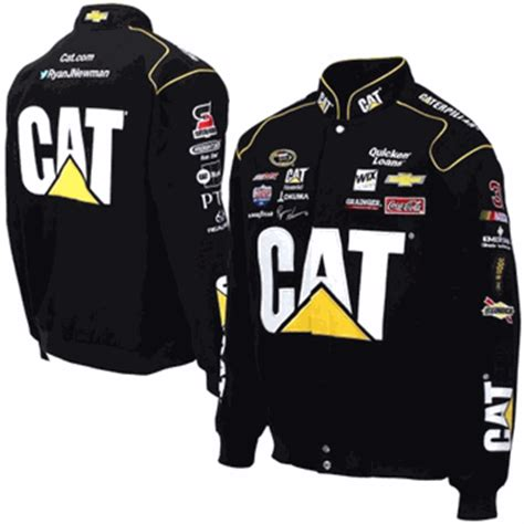 design your own nascar jacket ryan newman caterpillar mens black twill nascar jacket by
