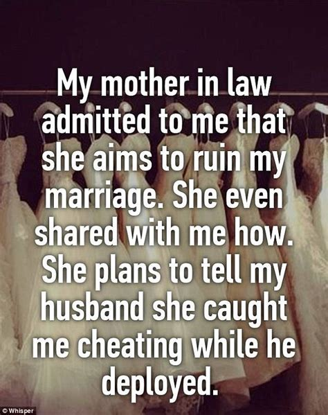 Disgruntled wives share ghastly stories about their mother