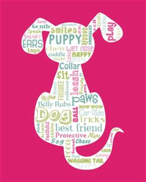 words to describe dogs cat silhouette word typography wall home decor unique gift
