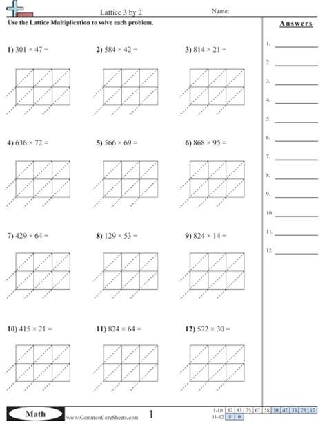 area model multiplication worksheets multiplication worksheets