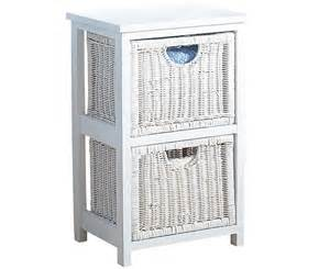 white wicker bathroom storage white wicker 2 drawer storage unit