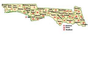 map of panhandle florida wims county id maps