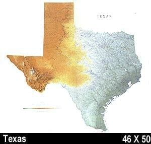 relief map of texas texas shaded relief map 50x46