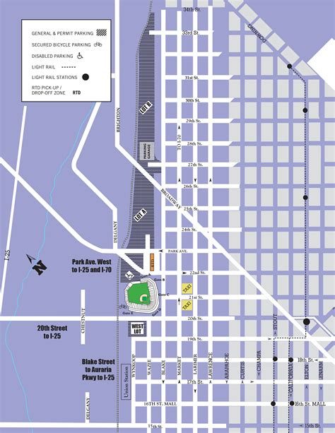 parking map coors field parking guide tips maps deals spg