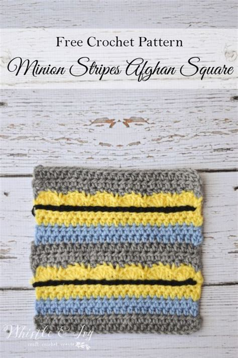 free crochet pattern minion crochet afghan square make afghans minions and squares on pinterest