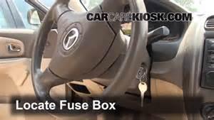interior fuse box location 1999 2003 mazda protege 2000 mazda protege lx 1 6l 4 cyl