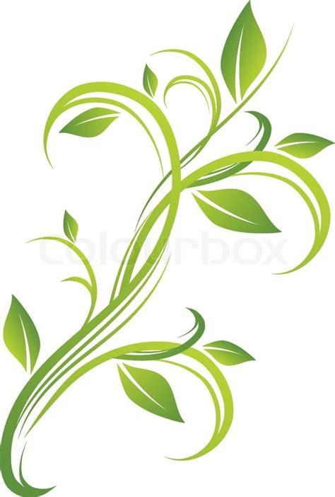 design in flower green floral design stock vector colourbox