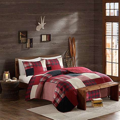 woolrich bedding discontinued woolrich 174 sunset reversible coverlet set in red bed bath beyond