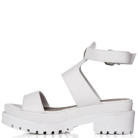 buy tobago chunky cleated sole platform sandal shoes white