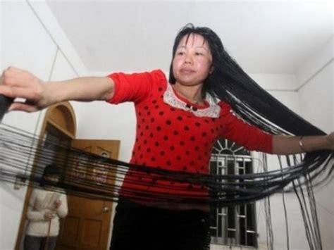 sedere largo conoc 233 a la mujer con el pelo m 225 s largo mundo el
