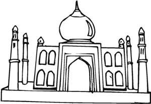 depiction of taj mahal coloring page netart