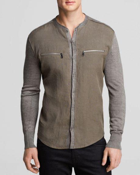 Kemeja Grey Sleeve Sweater s gray collection band collar shirt sweater inspiration
