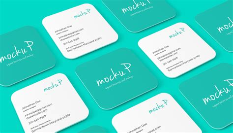 square business card mockup template 25 square business card mockup templates mashtrelo