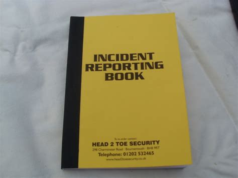 incident report book incident reporting book